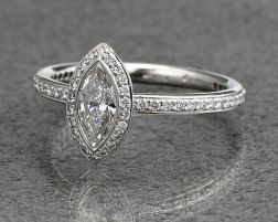 Stunning Vintage Style Halo Engagement Rings