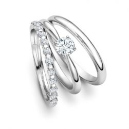 Wedding Ring And Engagement Ring Set