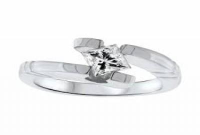 Diamond District Blocks Princess Cut Solitaire Engagement Rings