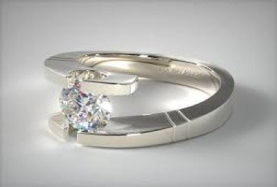 Tension Mount Diamond Engagement Rings