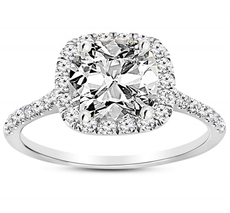 Elongated Cushion Cut Engagement Rings | Diamond District Block