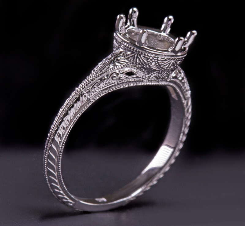 Going With Diamond District Antique Engagement Ring