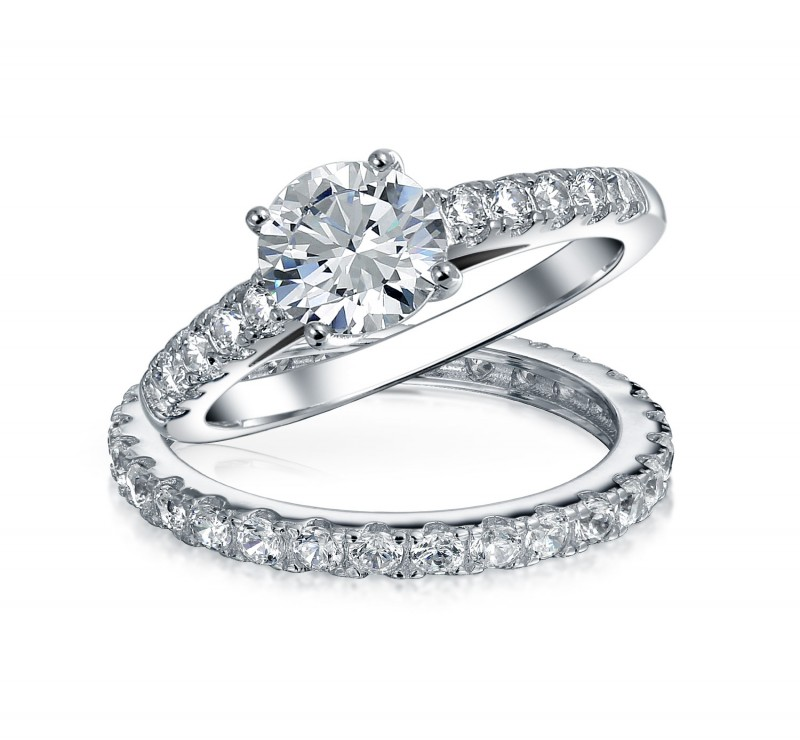 Cubic Zirconia Wedding Ring Sets