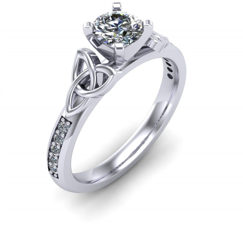 Celtic Engagement Ring | Diamond District Block